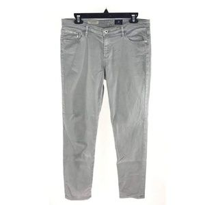 AG Adriano Goldschmied Gray The Stevie Slim Jeans